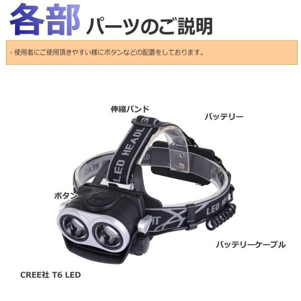 最大P25倍 LEDヘッドランプ LEDヘッドライト フォーカス機能 ブラック CREE社/米国 T6 バッテリー 充電 3段階 登山 懐中電灯 アウトドア レジャー キャンプ 釣り|seedjapan|07