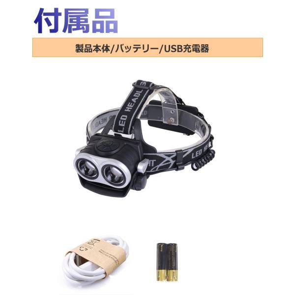 最大P25倍 LEDヘッドランプ LEDヘッドライト フォーカス機能 ブラック CREE社/米国 T6 バッテリー 充電 3段階 登山 懐中電灯 アウトドア レジャー キャンプ 釣り|seedjapan|08