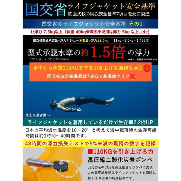 ライフジャケット 釣り ウエスト 腰巻き 釣り用 フィッシングウェア 大人用 子供 ベルトタイプ 手動膨張式 釣り具|seedjapan|05