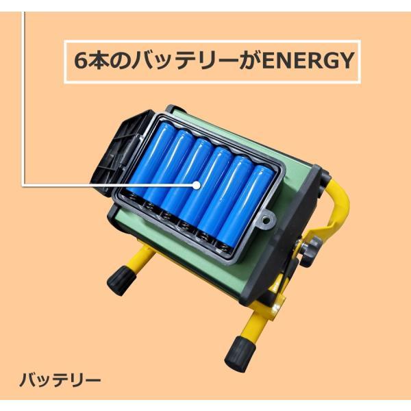 最大P25倍 充電式 LED投光器 ポータブル 屋外用 ライト 100W グリーン/ゴールド選択 釣り 懐中電灯 フィッシング ライト 集魚灯|seedjapan|06