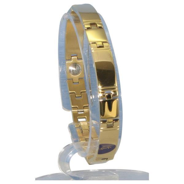 MARE(マーレ) ゲルマニウム5個付ブレスレット GOLD/IP ミラー 118G S (17.5cm) H1103-33S(A&B)(送料込み)