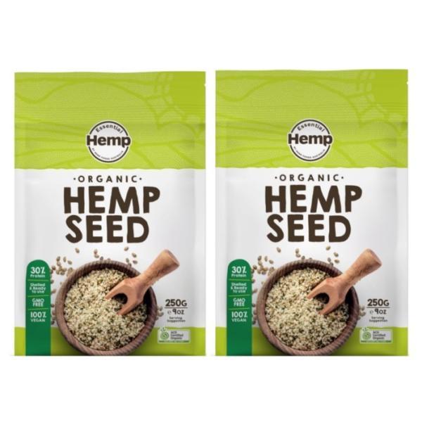 2個セット 有機麻の実ナッツ 250g ヘンプシード ナッツ ヘンプフーズ HEMP FOODS 当店は正規代理店です オーストラリア産 スーパーフード ヴィーガン