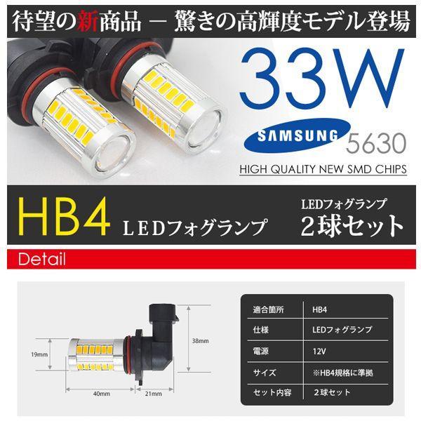 HB4 LED フォグランプ アンバー / 黄 /オレンジ SAMSUNG 33W CREE級 2球 seek 03