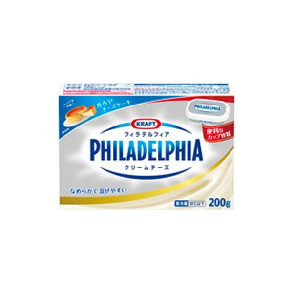 森永 森永クラフトフィラデルフィアクリームチーズ 200g×12個 【冷蔵】
