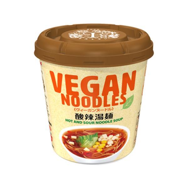 ヤマダイ ヴィーガンヌードル 酸辣湯麺 56g×12個 / 「T'sレストラン」監修 / 中細麺