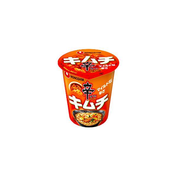 農心ジャパン 辛ラーメンキムチ カップ 68g ×24個(2ケース) /白菜キムチ /マイルドな辛さ /日本人向け辛み
