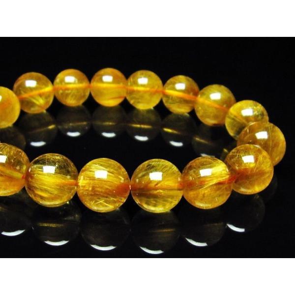 ゴールドタイチンルチル ブレスレット 12mm  t473-4236