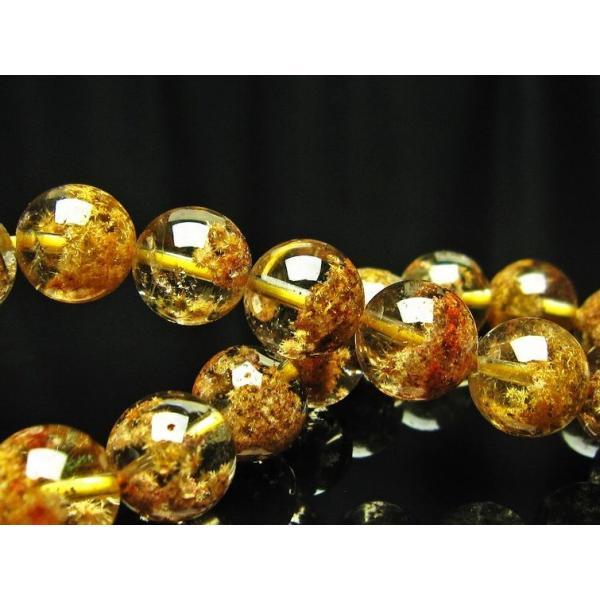 タイチンフラワー水晶ガーデンクォーツ(庭園水晶) ブレスレット 11mm  k107-71