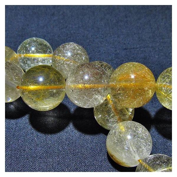 ルチルクォーツ(金針ルチル水晶) ブレスレット 14mm  t132-14691