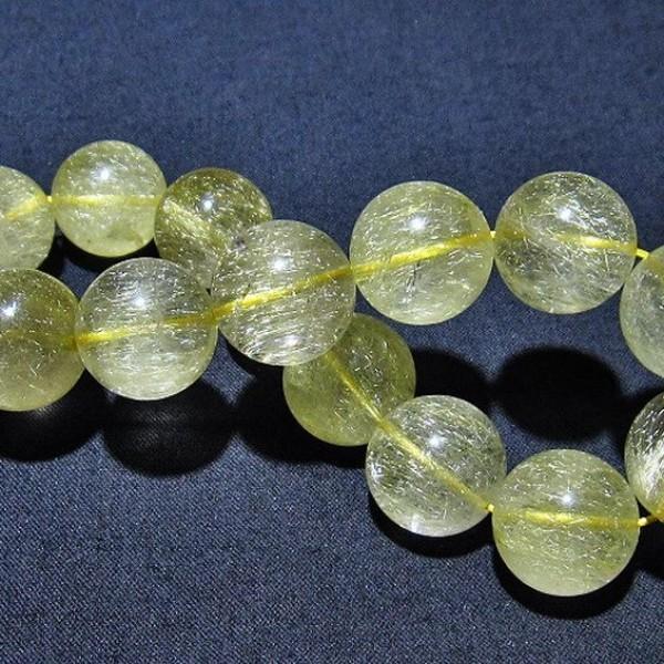 ルチルクォーツ(金針ルチル水晶) ブレスレット 15mm  t132-15560