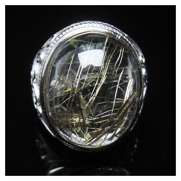 プラチナルチル入り水晶 指輪 (21号) t164-5074|seian