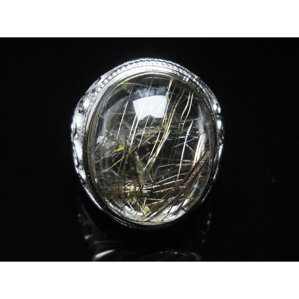 プラチナルチル入り水晶 指輪 (21号) t164-5074|seian|02
