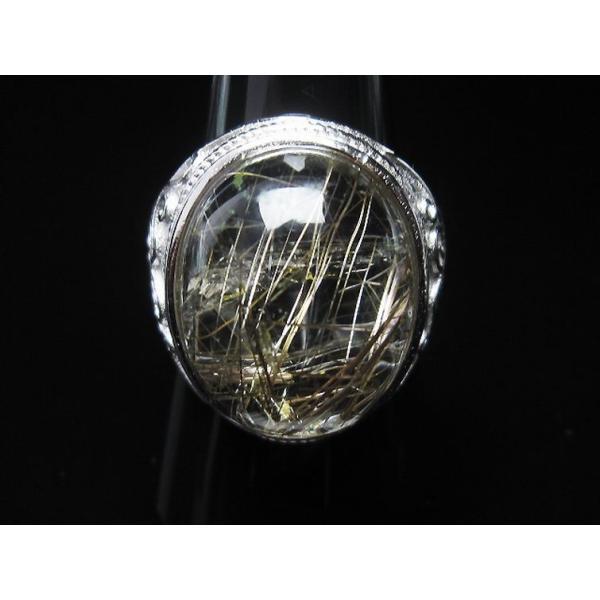 プラチナルチル入り水晶 指輪 (21号) t164-5074|seian|03