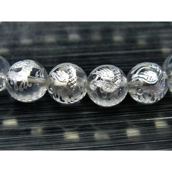 ヒマラヤ水晶 手彫り 朱雀 ブレスレット 10mm  t502-5233|seian|03