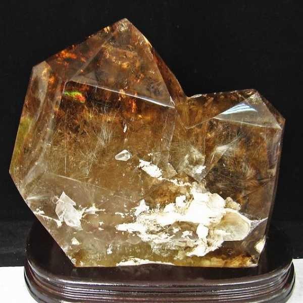 7.8Kg プラチナルチル入り水晶 六角柱 t592-2270 seian