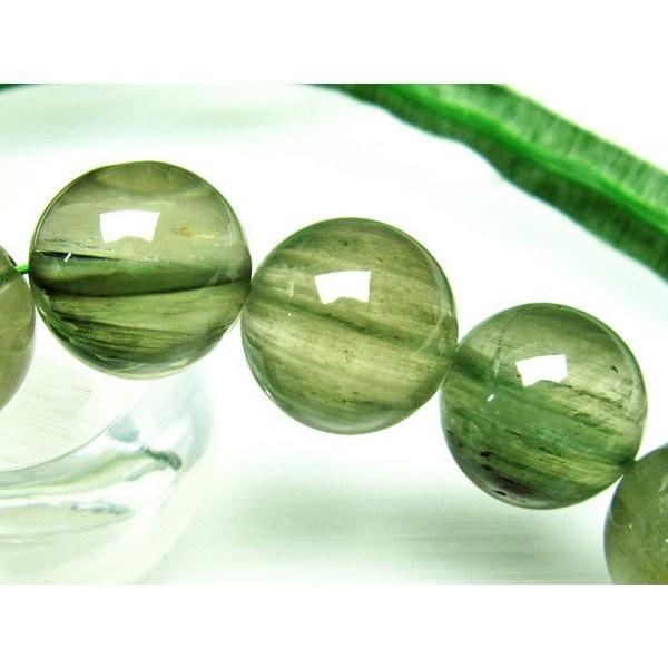 緑タイチンルチル ブレスレット 17mm  t702-6070