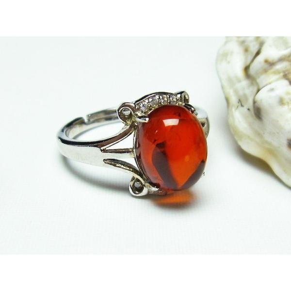 レッドアンバー 赤琥珀 指輪 (13号) t746-2385