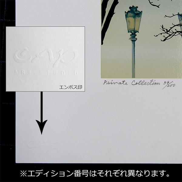 ヒロヤマガタ 絵画  「フォギーディウエディング」 シルクスクリーン 額付き  直筆サイン入 送料無料 B1391 ウェディング 現品限り|seibidou-surprise|04