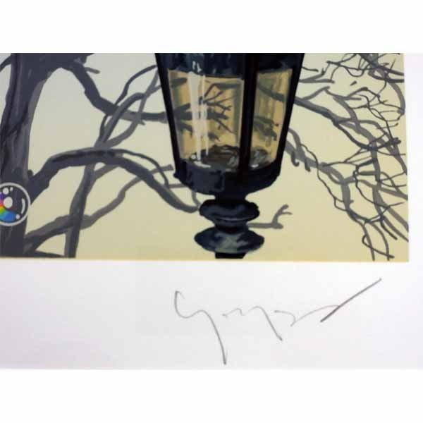 ヒロヤマガタ 絵画  「フォギーディウエディング」 シルクスクリーン 額付き  直筆サイン入 送料無料 B1391 ウェディング 現品限り|seibidou-surprise|05