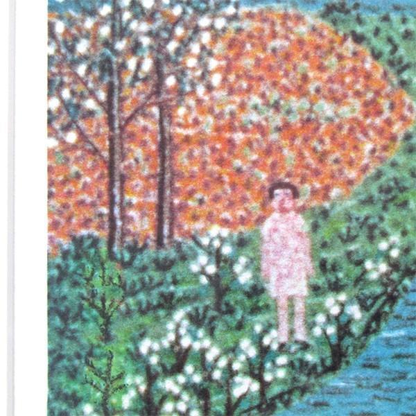山下清 作品「オランダの牧場」リトグラフ 額付き 風景画 絵画 額外寸76x69.5センチ 裸の大将 ちぎり絵 ヨーロッパ 放浪 B4925|seibidou-surprise|04