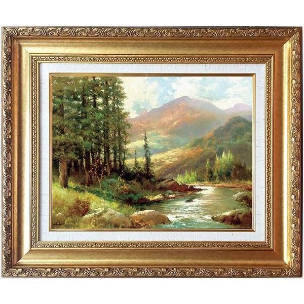 「山と川の風景」ロバートウッド