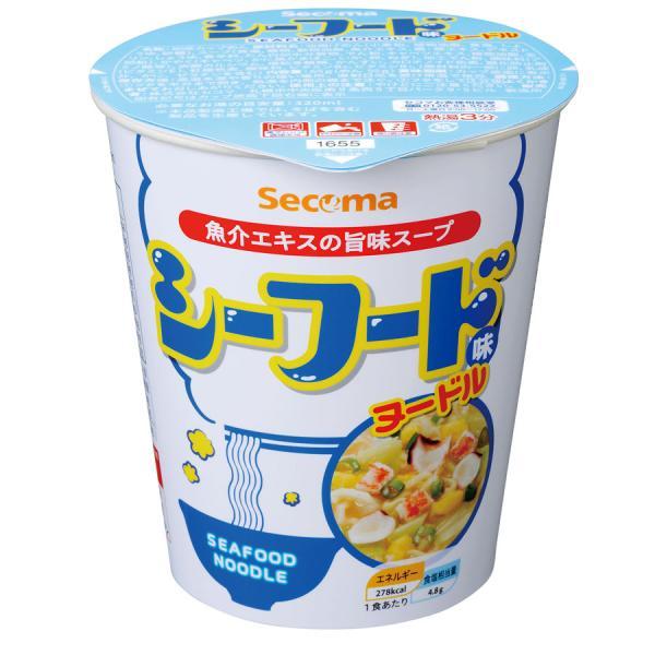 セイコーマート Secoma シーフード味ヌードル 12個 セコマ カップラーメン カップ麺 箱買い 1ケース シーフード味