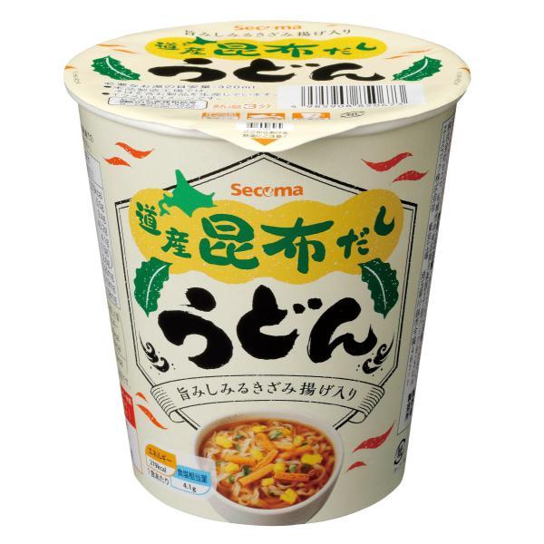 セイコーマート Secoma 道産昆布だしうどん 12個 セコマ カップラーメン カップ麺 箱買い 1ケース うどん 昆布 北海道