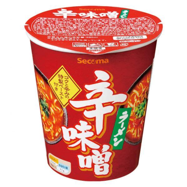 セイコーマート Secoma 辛味噌ラーメン 12個 セコマ カップラーメン カップ麺 箱買い 1ケース 味噌味