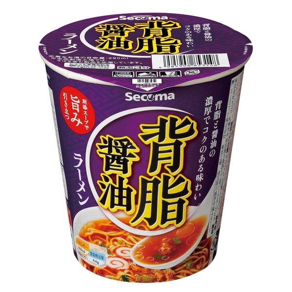 セイコーマート Secoma 背脂醤油ラーメン 12個 セコマ カップラーメン カップ麺 箱買い 1ケース しょうゆ味