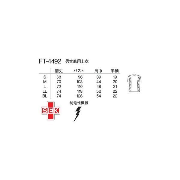 医療白衣 スクラブ 男女兼用 Naway ナウェイ ナガイレーベン FT-4492 上衣 白衣 S〜BL ナースウェア|seifukusimasenka|03