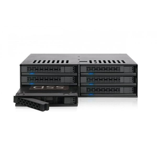 MB326SP-B リムーバブルケース 6 x 2.5 インチ SAS / SATA HDD / SSD 台搭載可 5インチ ベイ サイズ|seijinshoji|02