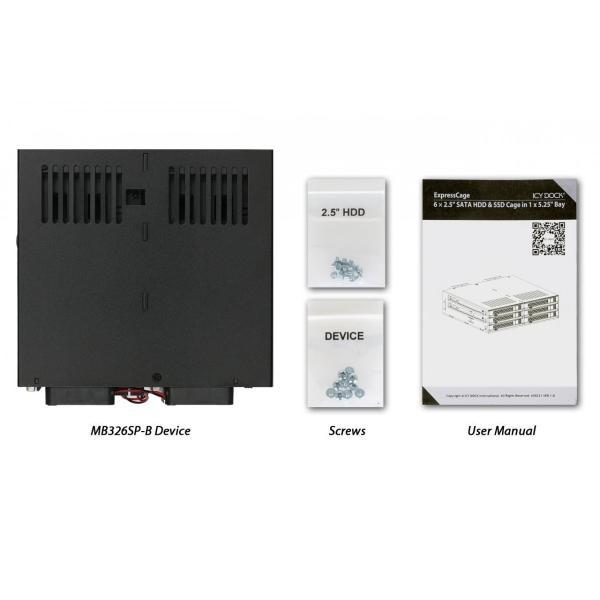 MB326SP-B リムーバブルケース 6 x 2.5 インチ SAS / SATA HDD / SSD 台搭載可 5インチ ベイ サイズ|seijinshoji|08
