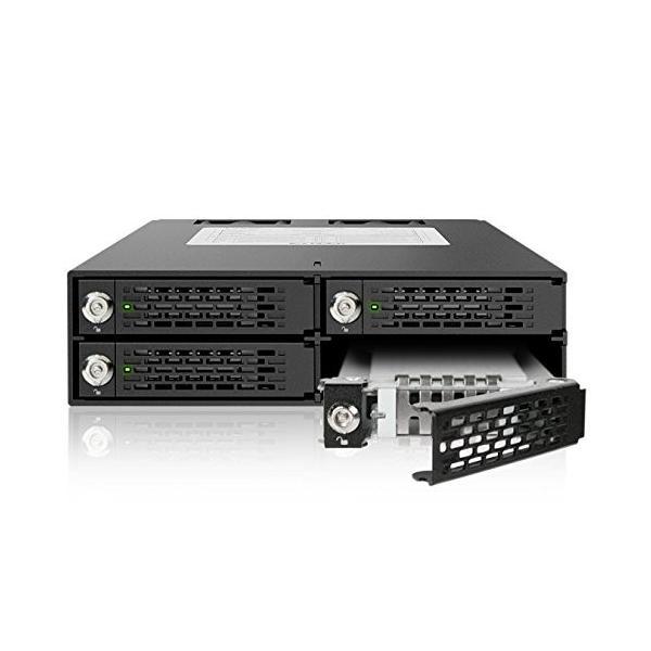 MB994SK-1B リムーバブルケース 4 x 2.5インチ SATA / SAS HDD/SSD 搭載用 ロック鍵付|seijinshoji