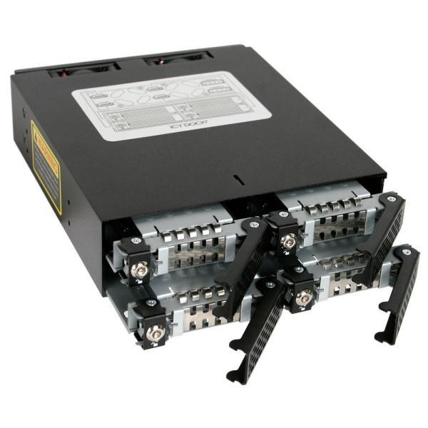 MB994SK-1B リムーバブルケース 4 x 2.5インチ SATA / SAS HDD/SSD 搭載用 ロック鍵付|seijinshoji|02