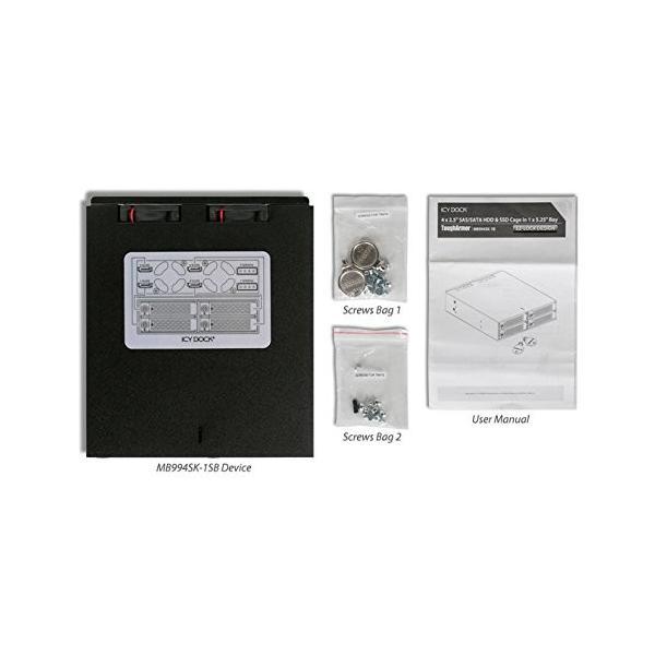 MB994SK-1B リムーバブルケース 4 x 2.5インチ SATA / SAS HDD/SSD 搭載用 ロック鍵付|seijinshoji|05