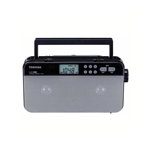《AM/FMの各6放送をプリセットできる「お好み選局」機能を搭載》東芝 AM/FMステレオラジオTY-SR55(S)ワイドFM対応プリセットチューニング