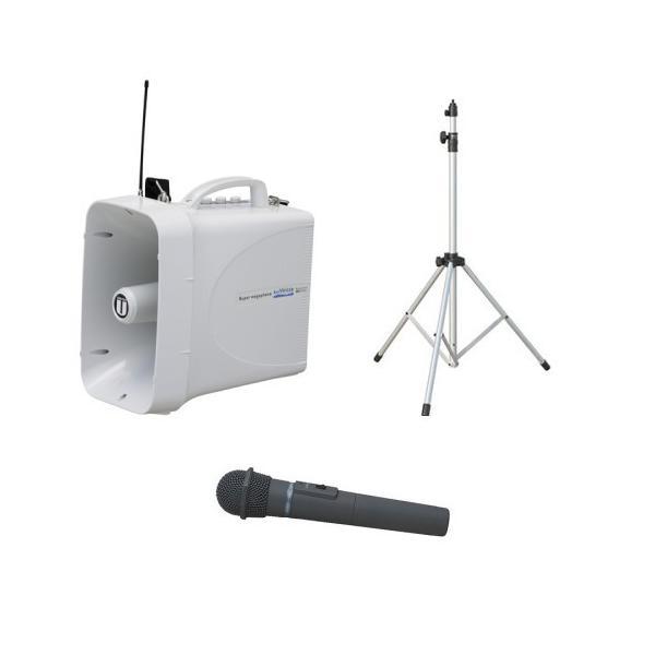 拡声器 30W PLL300MHz帯 選挙用スピーチセット TWB-300 ST-110 WM-3400