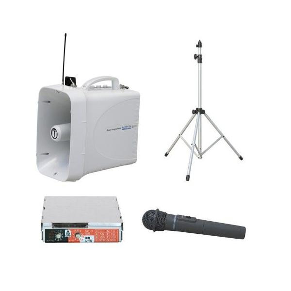 拡声器 30W PLL300MHz帯 選挙用スピーチセット(雨天対応) TWB-300 ST-110 WM-3400 SDU-300