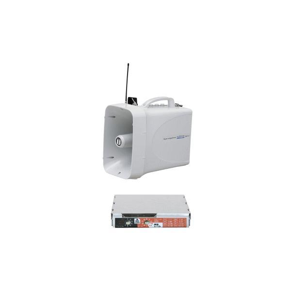 拡声器 大型メガホンセット ユニペックス 30W TWB-300 SDレコーダーユニット SDU-300