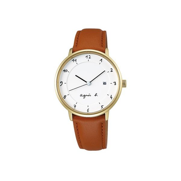 agnes b. アニエスベー ソーラー 腕時計 レディース マルチェロ Marcello レザー FBSK944