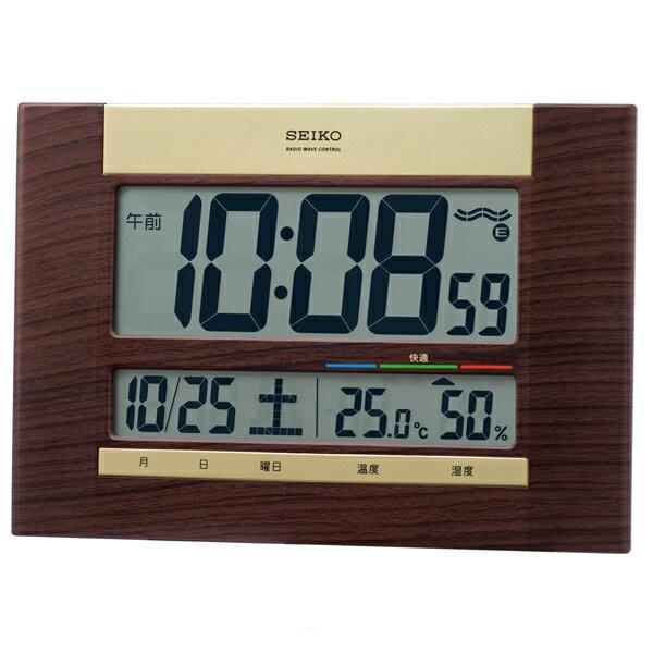 SEIKO CLOCK セイコークロック 温湿度表示 電波時計 置時計 デジタル SQ440B
