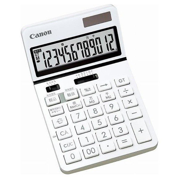 ビジネス電卓 チルト式卓上タイプ 12桁 KS-1220TU-WH Canon|seirindou