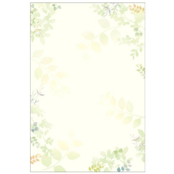 タカ印 洋柄用紙 デザインペーパー フラール グリーンズ ハガキサイズ 20枚入 4-1305