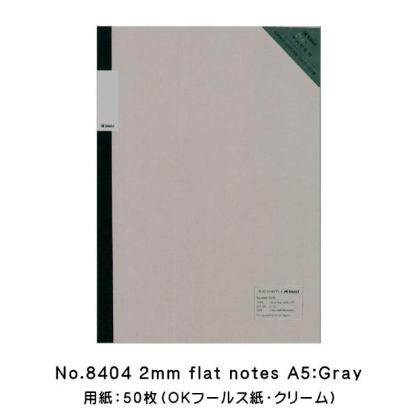 中村印刷所×kleid 2mm方眼 フラットノート A5サイズ Gray 8404