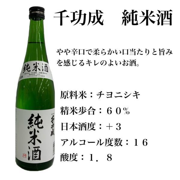 日本酒 福島 千功成 純米酒 1.8L 地酒 檜物屋酒造店 チヨニシキ seishuya 02