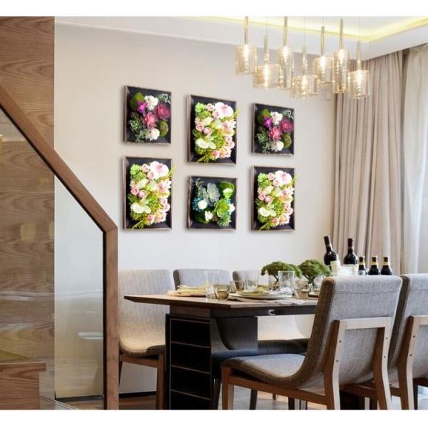 壁飾り 観葉植物 お花壁飾り 壁掛けインテリア ウォールディスプレイ フェイクグリーン 光触媒 壁面飾り オーナメントパネル  hn2|seisin39