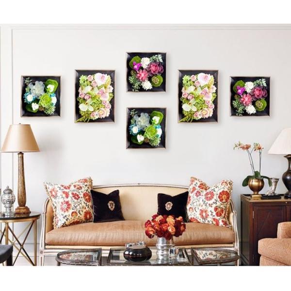 壁飾り 観葉植物 お花壁飾り 壁掛けインテリア ウォールディスプレイ フェイクグリーン 光触媒 壁面飾り オーナメントパネル  hn2|seisin39|02