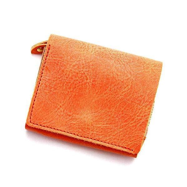 アジリティアッファ(AGILITYaffa)『モワティエ』二つ折り財布フラップ縦L字ファスナーコンパクト小さい本革