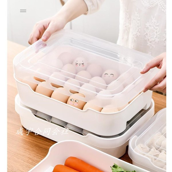 卵ケース 冷蔵庫用 卵収納ボックス 冷蔵庫卵用タッパー 保存容器 野菜保存 卵容器 卵保存容器 タッパー 卵トレー 卵用 持ち運び 持ち運び キッチン 台所収納|seiu|06
