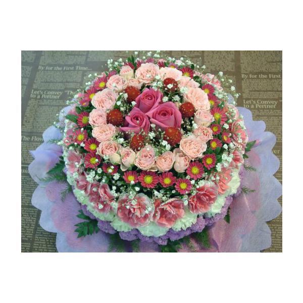 花ギフト フラワーケーキ ピンクS